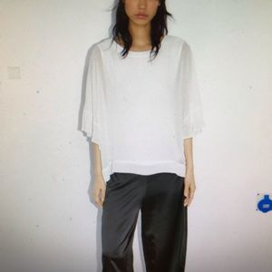 NWT Zara ruffled sleeve blouse